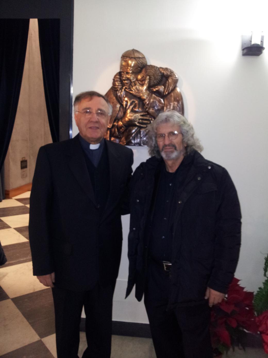 Ignazio Colagrossi con Padre Ciro Benedettini