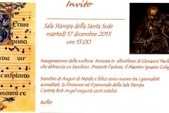 17 dicembre 2013 invito inaugurazione Vaticano