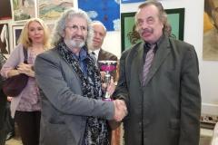 Ignazio Colagrossi con il critico d'arte Claudio Lepri