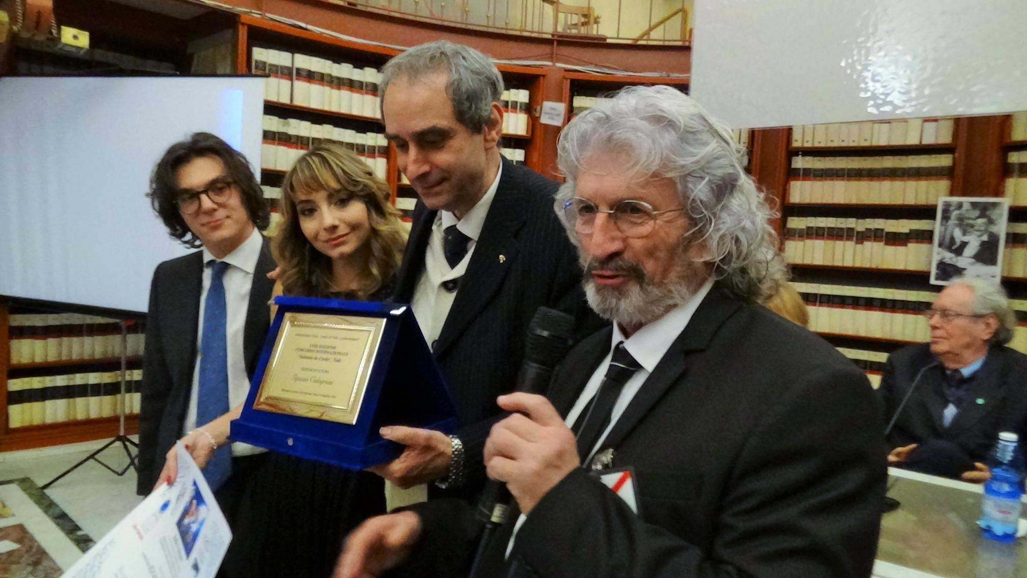 premiazione premio Antonio de Curtis Ignazio Colagrossi