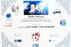 9 dicembre 2015 premio Toto attestato