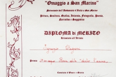 1 nobembre 1997 Repubblica di San Marino attestato