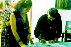 1996 personale pittura e letteratura - Libreria Einaudi - Palestrina 3
