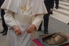 f.3 ben. Santo Padre VOLTO di CRISTO artista Ignazio Colagrossi udienza 14 aprile 2010