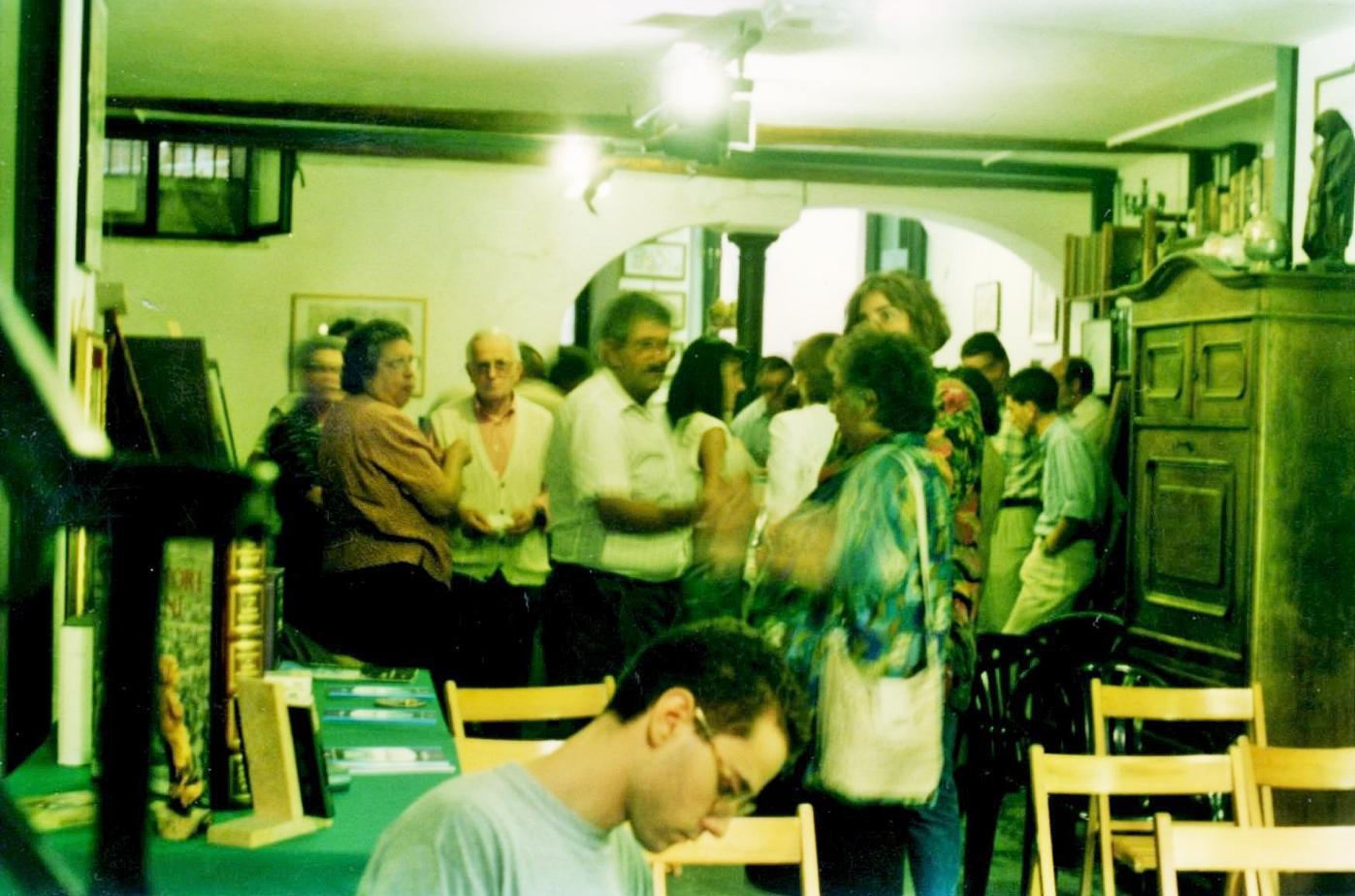 1996 personale pittura e letteratura - Libreria Einaudi - Palestrina 2