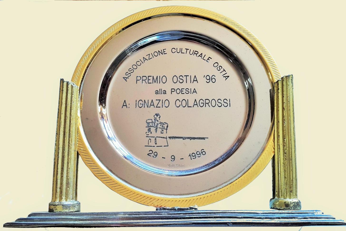 29 settembre 1996 VIII ma Edizione Premio OSTIA targa